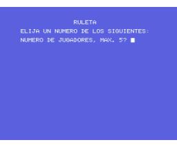 Roulette (MSX, Unknown)