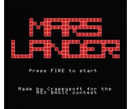Mars Lander (2006, MSX, Crappysoft)