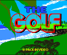 The Golf (1988, MSX2, MSX2+, Pack-In-Video)