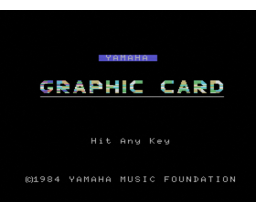 Graphic Card Program (1984, MSX, YAMAHA)