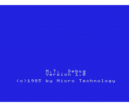 MT-Debug (1985, MSX, Micro Technology)