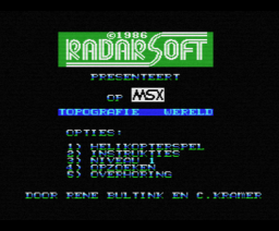 Topografie Wereld (1986, MSX, Radarsoft)