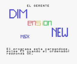 El Gerente (1984, MSX, DIMensionNEW)