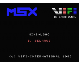 Mini-Logo (1985, MSX, Vifi International)