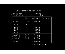 Calory Calculator (1984, MSX, Oak)