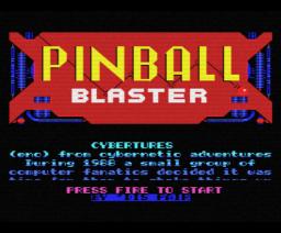 Pinball Blaster (1988, MSX, Eurosoft)