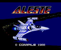 Aleste (1988, MSX2, Compile)