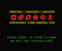 Yahtzee (2007, MSX, dvik & joyrex productions)