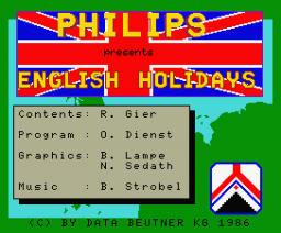 English Holidays (1986, MSX2, Philips)