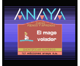 El Mago Volador 2 - Números y Cantidades (1986, MSX, Anaya Multimedia)
