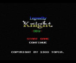 Legendly Knight (1988, MSX, Topia)