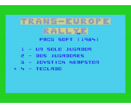 Trans-Europe Rally (1984, MSX, PMCG Soft)