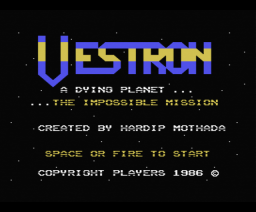 Vestron (1986, MSX, Players)
