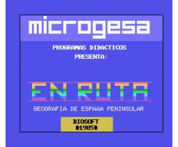 En Ruta - Geografia de España Peninsular (1985, MSX, Microgesa, Biosoft)