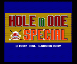 Hole In One Special (1987, MSX2, HAL Laboratory)