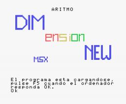 Aritmo (1985, MSX, DIMensionNEW)