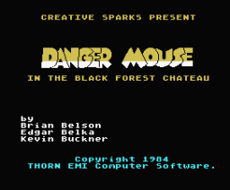 Danger Mouse in the Black Forest Chateau (1986, MSX, Alternative Software)