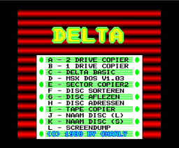 Delta Soft Tools Disc (1988, MSX2, Delta Soft)