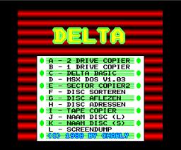 Delta Soft Tools Disc (1988, MSX2, Delta Soft)