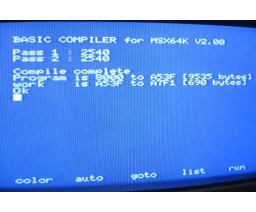 BASIC Compiler For 64k (1986, MSX, Soft West)