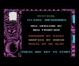 Mystical (1991, MSX, New Frontier)