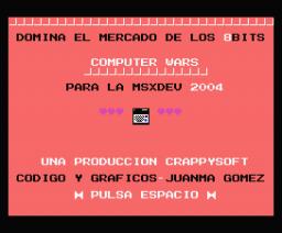 Computer Wars (2004, MSX, Crappysoft)