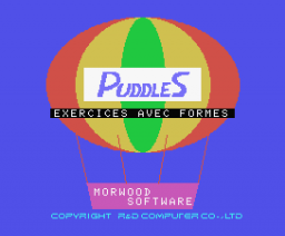 Puddles - Exercises with shapes (1984, MSX, Morwood Software)
