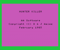 Hunter Killer (1985, MSX, AA Software)