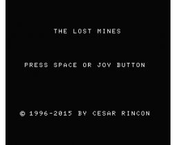 The Lost Mines (2015, MSX, César Rincón)