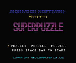 Superpuzzle (MSX, Morwood Software)