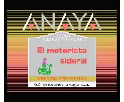 El Motorista Sideral (1986, MSX, Anaya Multimedia)