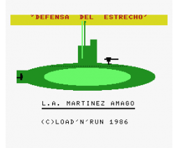 Defensa del Estrecho (1986, MSX, Load 'n' Run)