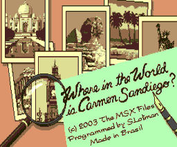 Carmen Sandiego (2003, MSX2, MSX Files)