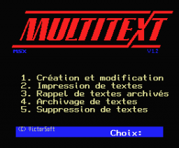 Multitext (MSX, Victor)