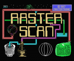 RasterScan (1987, MSX, Binary Design, Ltd)