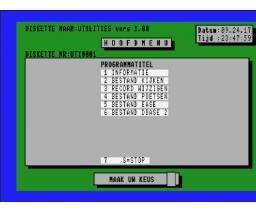 Utilities v1.00 (1989, MSX2, Club van Zes)
