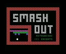 Smash Out (MSX, Knights Computers)