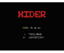 Xider (1986, MSX, A.G.D.)