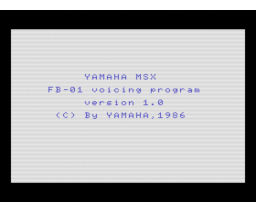 FB-01 Voicing Program (1986, MSX, YAMAHA)