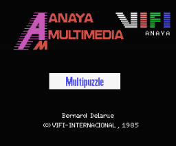 Multipuzzle (1985, MSX, Anaya Multimedia)