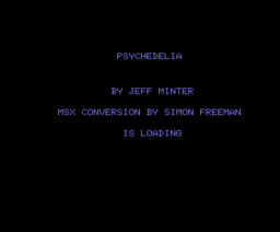 Psychedelia (1984, MSX, Llamasoft)