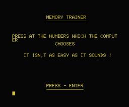 Memory Trainer (1984, MSX, Spectravideo (SVI))