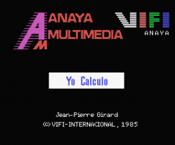 Yo Calculo (1986, MSX, Anaya Multimedia, Vifi International)