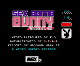 Sex Bomb Bunny (1999, MSX2, Matra)
