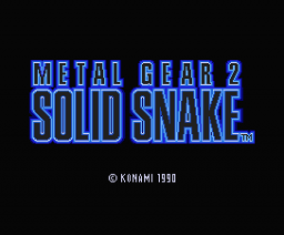 Metal Gear 2 - Solid Snake (Demo Version) (1990, MSX2, Konami)