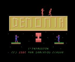 Demonia I - L´Intrusion (1986, MSX, Microids)