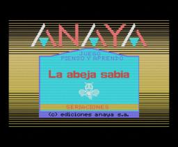 La Abeja Sabia 2 - Seriaciones (1986, MSX, Anaya Multimedia)