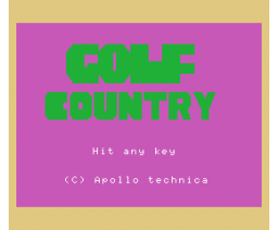 Golf Country (1983, MSX, Apollo Technica)