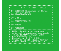 Data MSX Vol. II (MSX, GEASA)