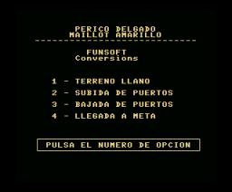 Perico Delgado Maillot Amarillo (1989, MSX, Topo Soft)